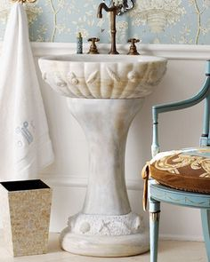 sea shell marble sink: would love to use this as a garden sink