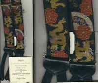 TRAFALGAR LIMITED EDITION SUSPENDERS - DRAGONS CHINOIS - WITH CERTIFICATE