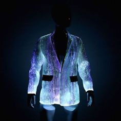 a3808d9a4d9 Fiber Optic Clothing LED Light Up Jacket for by YourMindYourWorld Light Up  Clothes