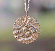 Virgo Constellation Zodiac Necklace  Golden Brass by OneLittleStar