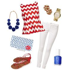 Wearing Rosettes: Red, White & Blue