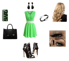 """""""Green&Black"""" by ermilove ❤ liked on Polyvore featuring Brian Atwood, Michael Kors and Alexis Bittar"""