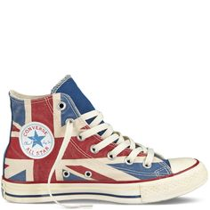 Chuck Taylor Distressed Union Jack parchment/navy/red.... oh my goodness these r awesome!!!