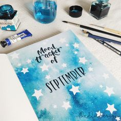 Monthly Mood Tracker PRINTABLE / Bullet Journal Insert / Stars Form / PDF Download