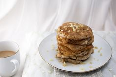 <p>These pancakes are perfect. They are so light and fluffy and have the absolute perfect texture. Sweetened with maple syrup and speckled with chewy bits of candied ginger, these pancakes will be the highlight of your weekend! </p>