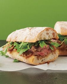 The tender steak and soft shallots are ideal partners in this sandwich. They're also great over mashed potatoes with a simple arugula salad on the side.