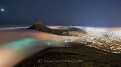 Atlantic Fog Time-lapse by Eric Nathan. Time-lapse video of the spectacular ocean of fog that rolled off the Atlantic into Cape Town on Sunday evening. Photographed from Table Mountain using a Nikon D3 camera and 14-24mm f2.8 lens.