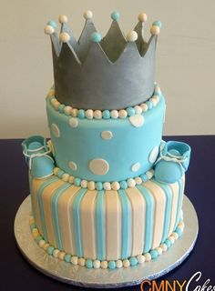 Prince theme baby shower Cake