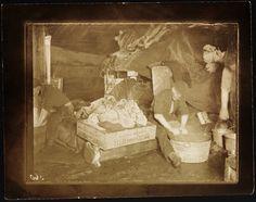 "Norwegian polar explorer Roald Amundsen doing laundry aboard the ""Maud"" | National Library of Norway"