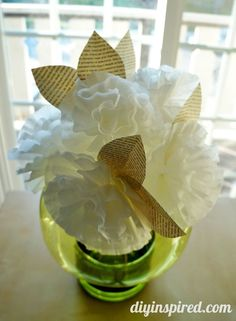 Best of DIY Inspired- Best Recycled Craft Project – Coffee Filter Flowers