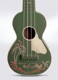 1950's ukulele by Harmony. Stencil design.