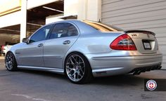 Mercedes on all-new HRE Conical Mercedes E Series, Mercedes E55 Amg, Mercedes Wheels, Mercedes Benz Cars, Mercedes Benz Classes, Merc Benz, Japanese Sports Cars, Performance Wheels, Benz E Class