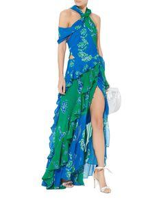 Briella Cutout Maxi Dress, BLUE-MED, hi-res