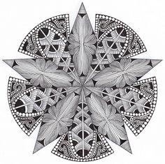 The Bright Owl: Zendala Dare Mehndi, Henna, Rangoli Patterns, Zentangle Patterns, Zentangle Drawings, Doodles Zentangles, Mandala Doodle, Mandala Art, Tangled Drawing