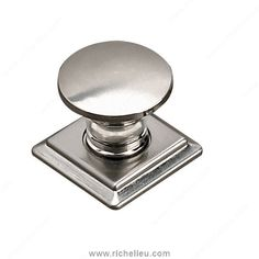 The Richelieu Hardware Brushed Nickel In. Contemporary Knob will bring together functionality, aesthetics, ergonomics, in all kinds of styles and finishes. This knob has innovation in craftsmanship design and style. Metal Cabinet, Acrylic Cabinets, Brown Cabinets, Contemporary, Brushed Nickel, Decorative Hardware, Accent Doors, Metal, Entry Door Handles