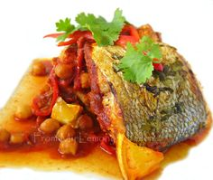 Lisa's Lemony Kitchen ....: Moroccan Fish with Chickpeas and Coriander