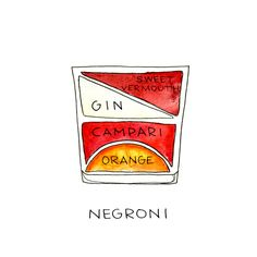 Negroni Cocktail Print ~ Alyson Thomas