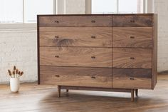 "Designed by Phloem Studio  Available Wood Finishes: Maple, White Oak, Walnut with turned wood pulls  38.75"" H x 53"" W x 21.5"" D  Custom Sizing & Materials Available  Lead Time 12 - 14 Weeks"