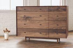 Dorothy Bureau from Phloem Studio! Spectacular grain composition on the walnut drawer fronts.