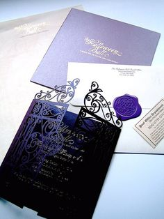 I know this is a Halloween invite, but love the black gates!