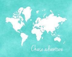 Chase adventure world map printable nursery by CrayonBoxStudios