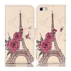 Rose Tower Stand Flip Leather Phone Card Holder Case Cover For Apple iPhone 5C