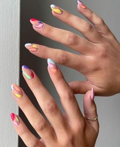 Baby Blue Nails, Yellow Nails, Purple Nails, Pastel Nails, White Nails, Almond Acrylic Nails, Best Acrylic Nails, Acrylic Nail Designs, Almond Nails