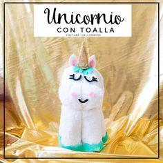Tutorial para aprende hacer unicornio en toalla