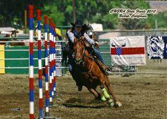 Rodeo Champion pole bender❤️