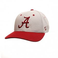 Alabama Crimson Tide Zephyr NCAA The Athlete Fitted Hat (Grey)