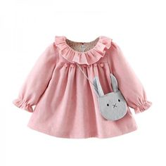Cheap baby dress, Buy Quality little baby dresses directly from China girl baby dress Suppliers: R&Z Baby Girls Dresses 2017 Autumn Lovely Long-sleeved Lotus Leaf Collar Pocket Doll Dress + Bag Kids Children Clothing Fashion Kids, Baby Girl Fashion, Strong Female, Dress Anak, Little Girl Dresses, Girls Dresses, Dresses For Babies, Little Boys Clothes, Baby Dresses