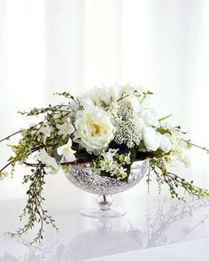 Cascading Bouquet Faux-Floral Arrangement by John-Richard Collection at Neiman Marcus.
