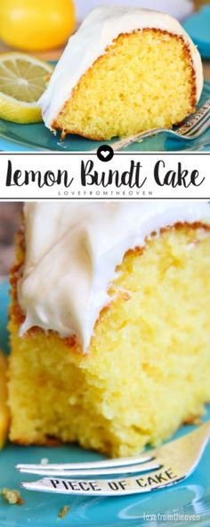 Lemon Bundt Cake with Lemon Cream Cheese Frosting. This recipe is fantastic for a spring or summer dessert!