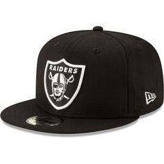 Oakland Raiders New Era Basic 9FIFTY Adjustable Snapback Hat - Black e77b3ab6b72