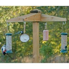 Wooden feeding station offer | RSPB Bird tables | RSPB Shop Bird Feeder Craft, Bird House Feeder, Bird Feeders, Birdhouse In Your Soul, Bird Tables, Bird Feeding Station, Bird Stand, House Furniture Design, Garden Animals