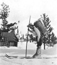 "Elevate to Reno/Tahoe. In 1856 the first documented Tahoe skier, John ""Snowshoe"" Thompson, crossed over what is now known as Heavenly Ski resort on his 90-mile mail route from Genoa, Nev. to Placerville, Calif."