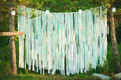 mint green wedding backdrop