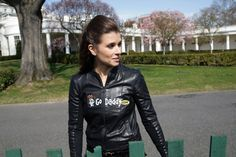 Race car driver Danica Patrick arrives to participate in the annual Easter Egg Roll on the South Lawn of the White House in Washington. Sue Patrick, Danica Patrick, Wisconsin, Kyle Petty, Aly And Aj, Car And Driver, Bikini Photos, Led Zeppelin, Hot Bikini