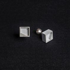 Shop Concrete Earrings + Cufflinks by Material Immaterial Studio on Adorn Milk - Design Milk
