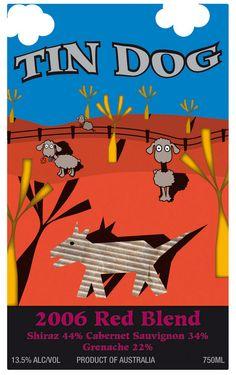 Tin Dog Cab/Shiraz Australia Red 06 (2006), a Cabernet Sauvignon see http://www.snooth.com/wines/tin dog/?saff=44883