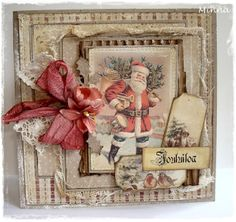 From Minna Paajanen in Äänekoski, central Finland… Create Christmas Cards, Homemade Christmas Cards, Noel Christmas, Vintage Christmas Cards, Xmas Cards, Christmas Greetings, Vintage Cards, Homemade Cards, Handmade Christmas