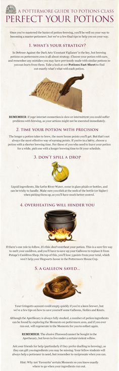 Pottermore Insider: Guide to Potions Class – Perfect Your Potions