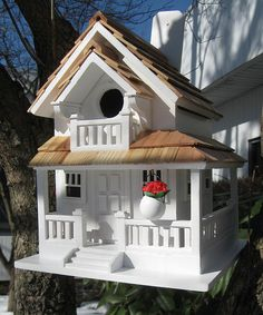 White Backyard Bird Cottage