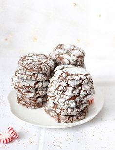 Chocolate and Candy Cane Cookies