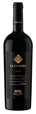 In stock - 50,45€ 2007 Errazuriz La Cumbre Shiraz, red dry , Chile - 93pt Ruby-red consistent colour with carmin-red reflex on the rim. In its elegant bouquet is dominant concentrated aroma of black fruit, overriped blackcurrants and blueberries with peppery undertone of nutmeg on the floral background. Taste is expansive and incredibly balanced, character is juicy fruity with pleasant sweet aftertaste of cinnamon.