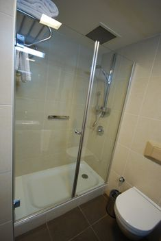 Each time a shower is used, it is exposed to grime from skin oils, dirt and soap. The reaction of water-borne minerals with accumulated grime creates soap scum on fiberglass. Clean Shower Doors, Glass Shower Doors, Fiberglass Shower Stalls, Concrete Shower, Mildew Stains, Remove Stains, Mold In Bathroom, Bathrooms, Master Bathroom