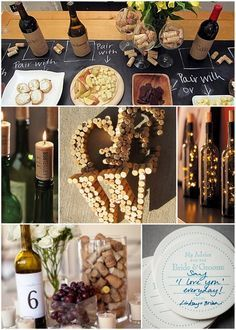 We love this idea for a couple's shower. A wine and cheese themed shower! via, Linen Lace and Love.