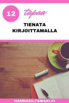 Rakastat kirjoittaa. <3 Haluaisit vain kaiket päivät kirjoittaa! <3  Mutta miten tästä voisi syntyä ura?  Lue lisää blogista 12 tapaa tienata rahaa kirjoittamalla...  #kirjoittaminen #sisällöntuotanto #blogi #bloggaus #bloggaaminen #yritys #yrittäjyys #yrittäjä #yrittäjät #naisyrittäjä #naisyrittäjät #etätyö #digi #digituote #valmennus #valmentaja #kotisivut #wordpress #divi