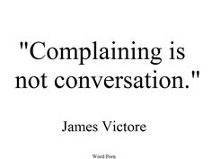 Don't complain, think of others who have it worse!