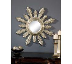 "Silver Solar 29"" Round Wall Mirror | 55DowningStreet.com"